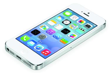 iPhone5上のiOS7